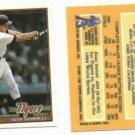 1991 Cracker Jack Alan Trammell Oddball Detroit Tigers