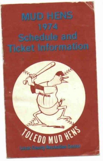 1974 Toledo Mud Hens Pocket Schedule