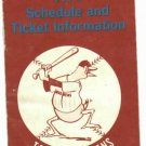 1974 Toledo Mud Hens Pocket Schedule
