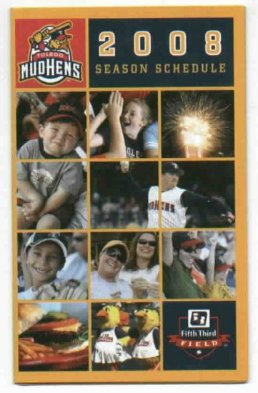 2008 Toledo Mud Hens Pocket Schedule