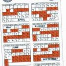 1991 Detroit Tigers Magnet Schedule SGA
