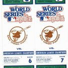 1984 Detroit Tigers World Series Tickets Stubs Game 6 & 7 MINT !!!