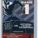 2006 World Series Ticket Detroit Tigers PROMO RARE!!!