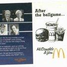 1984 McDonalds WDIV Detroit Tigers Schedule UNFOLDED MINT!!! World Series