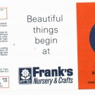 1984 Franks Nursery Detroit Tigers Schedule UNFOLDED MINT World Series