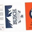 1984 Busch Beer Detroit Tigers Tigers Schedule UNFOLDED MINT World Series