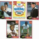 1981 Coke Detroit Tigers Team Set Gibson Rookie, Trammell, Parrish
