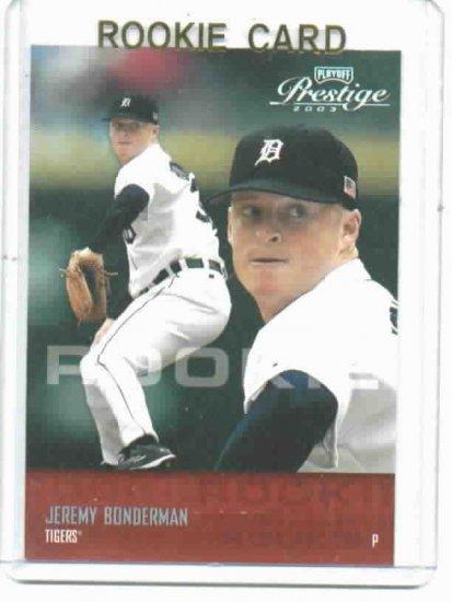 2003 Playoff Prestige Jeremy Bonderman ROOKIE Detroit Tigers