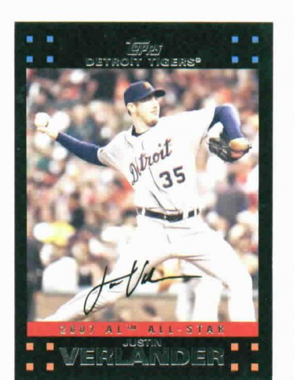 2007 Topps Update Justin Verlander All Star Detroit Tigers