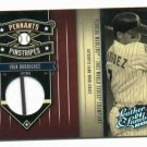 2004 Leather & Lumber Ivan Rodriguez Jersey Card W/ Stripe 78/250