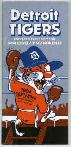 1984 Detroit Tigers Media Guide World Champions
