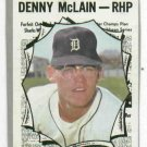 1970 Topps Denny Mc Lain All Star Card Detroit Tigers