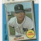 1982 Kmart Denny Mclain Detroit Tigers