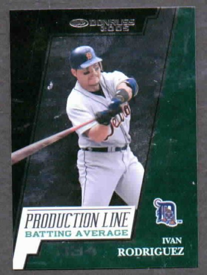 2005 Donruss Production Line Ivan Rodriguez #D 194/334 Detroit Tigers