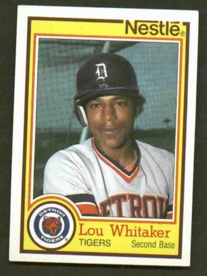1984 Nestle Lou Whitaker Detroit Tigers