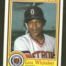 1984 Nestle Lou Whitaker Detroit Tigers