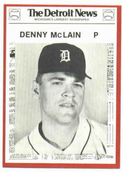 1981 Detroit News Denny McClain Oddball 1968 Tigers