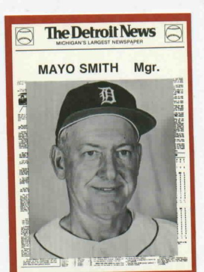 1981 Detroit News Mayo Smith Oddball Tigers 1968