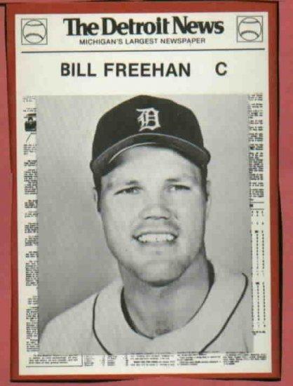 1981 Detroit News Bill Freehan Oddball Tigers 1968