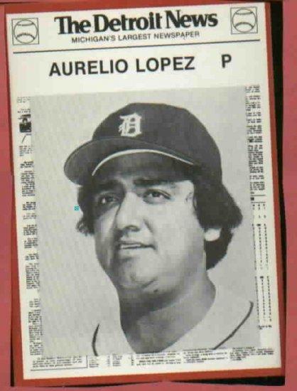 1981 Detroit News Aurelio Lopez Oddball Tigers 1984