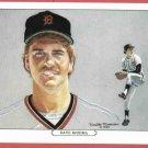 1984 Tiger Wave Dave Rozema Oddball Detroit Tigers