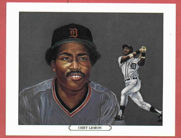 1984 Tiger Wave Chet Lemon Oddball Detroit Tigers