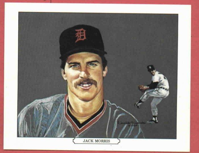 1984 Tiger Wave Jack Morris Oddball Detroit Tigers