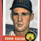 1953 Topps Archives Eddie Kazak Detroit Tigers 1991