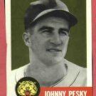 1953 Topps Archives Johnny Pesky Detroit Tigers 1991