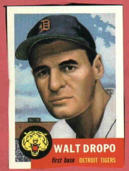 1953 Topps Archives Walt Dropo Detroit Tigers 1991