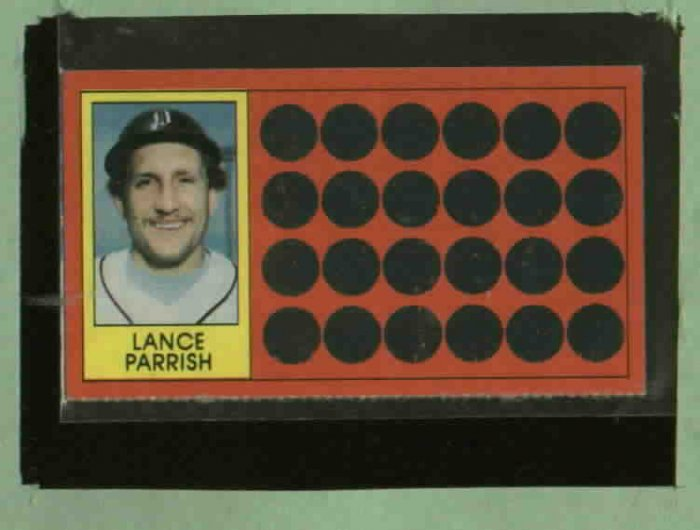 1981 Topps Scratch Off Lance Parrish Detroit Tigers
