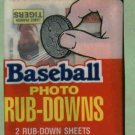 Unopened Pack 1984 Topps Rub Downs Lance Parrish Showing Detroit Tigers
