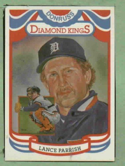 1984 Donruss Diamond Kings Lance Parrish Detroit Tigers