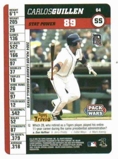 2005 Topps Pack Wars Carlos Guillen Detroit Tigers