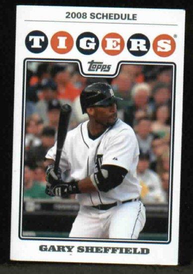 2008 Detroit Tigers Pocket Schedule Gary Sheffield