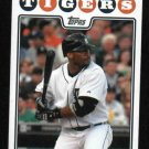 2008 Detroit Tigers Pocket Schedule Gary Sheffield