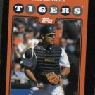 2008 Detroit Tigers Pocket Schedule Ivan Rodriguez