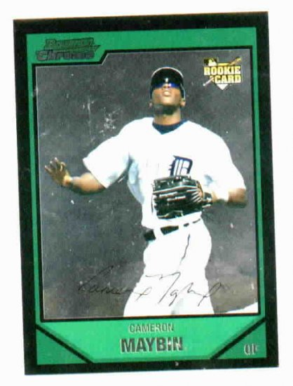 2007 Bowman Chrome Draft Pick Cameron Maybin Detroit Tigers Rookie