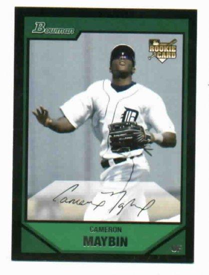 2007 Bowman Draft Picks Cameron Maybin Rookie Detroit Tigers