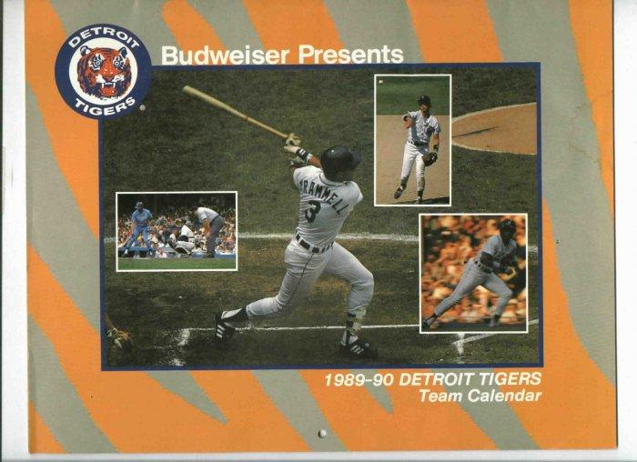 1989 Detroit Tigers Calander Budweiser Trammell SGA