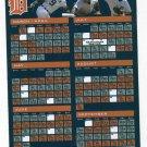 2008 Detroit Tigers Magnet Schedule SGA