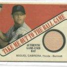 2004 Cracker Jack Miguel Cabrera Bat Card Detroit Tigers Marlins