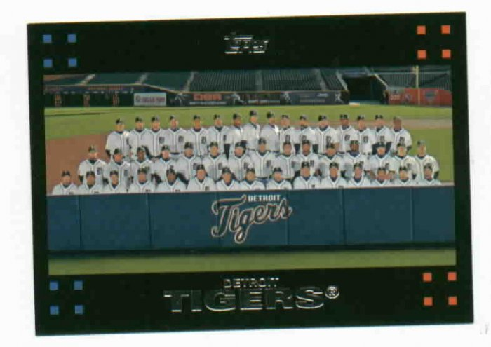 2008 Topps Detroit Tigers Team Card