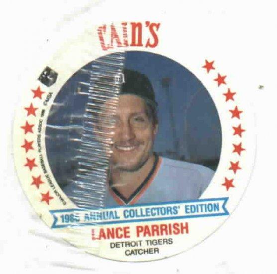 1986 Cains MSA Disc Lance Parrish Detroit Tigers Oddball Unopened
