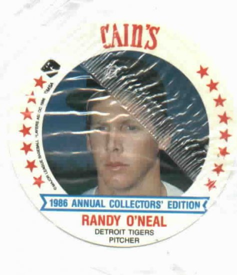 "1986 Cains MSA Disc  Randy O""Neal Detroit Tigers ODDBALL Unopened"