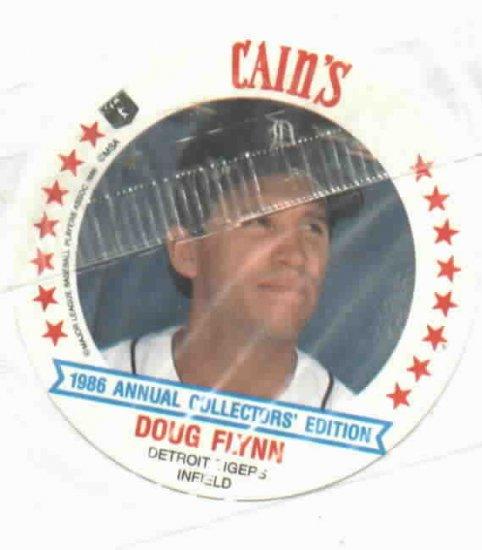 1986 Cains MSA Disc Doug Flynn Detroit Tigers ODDBALL Unopened