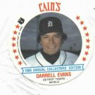 1986 Cains MSA Disc Darrell Evans Detroit Tigers ODDBALL Unopened