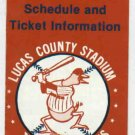 1988 Toledo Mud Hens Pocket Schedule