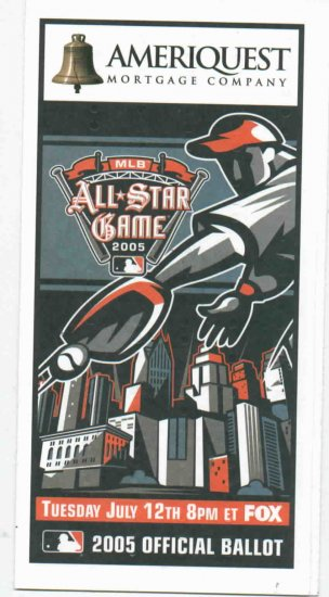 2005 All Star Ballot Comerica Park Detroit Tigers
