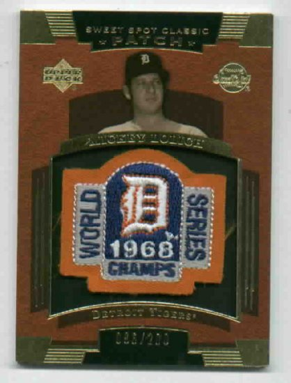 2004 Sweet Spot Classic Patch Mickey Lolich Detroit Tigers 1968 #d 6/200